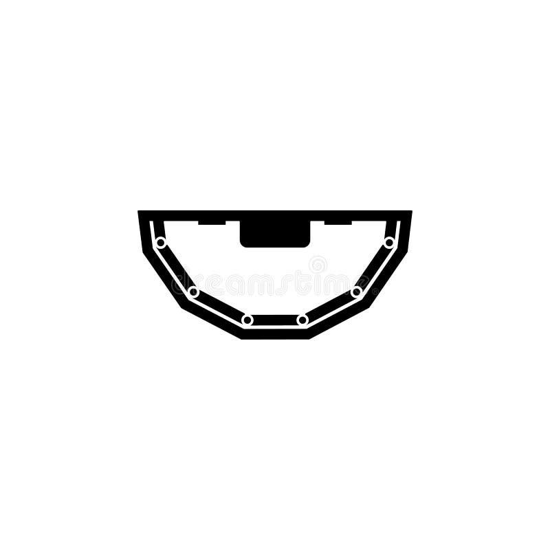 Значок таблицы покера Элемент значка казино Наградной качественный значок графического дизайна Знаки и значок собрания символов д бесплатная иллюстрация
