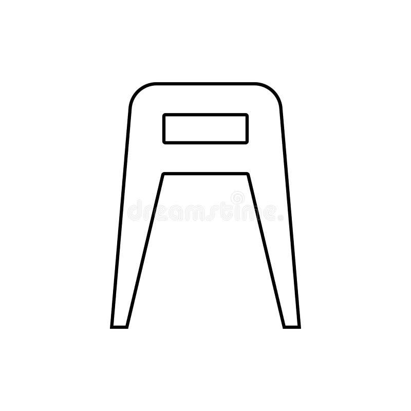 Значок табуретки Элемент мебели для мобильных концепции и значка приложений сети Тонкая линия значок для дизайна вебсайта и разви иллюстрация штока