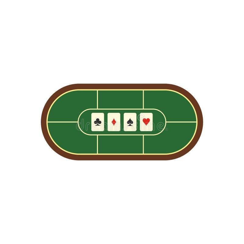 Значок таблицы покера плоский иллюстрация вектора