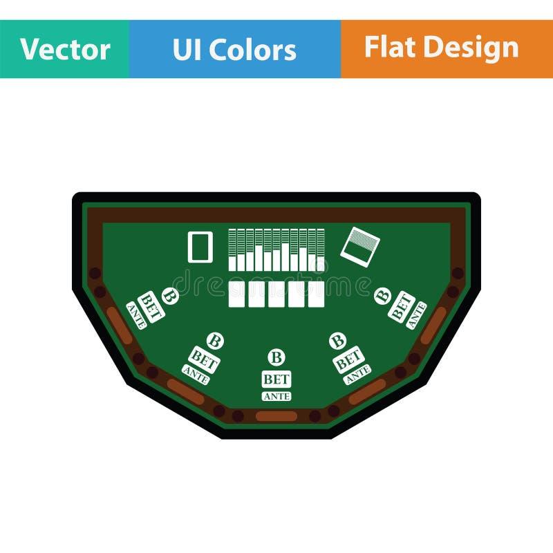 Значок таблицы покера иллюстрация вектора