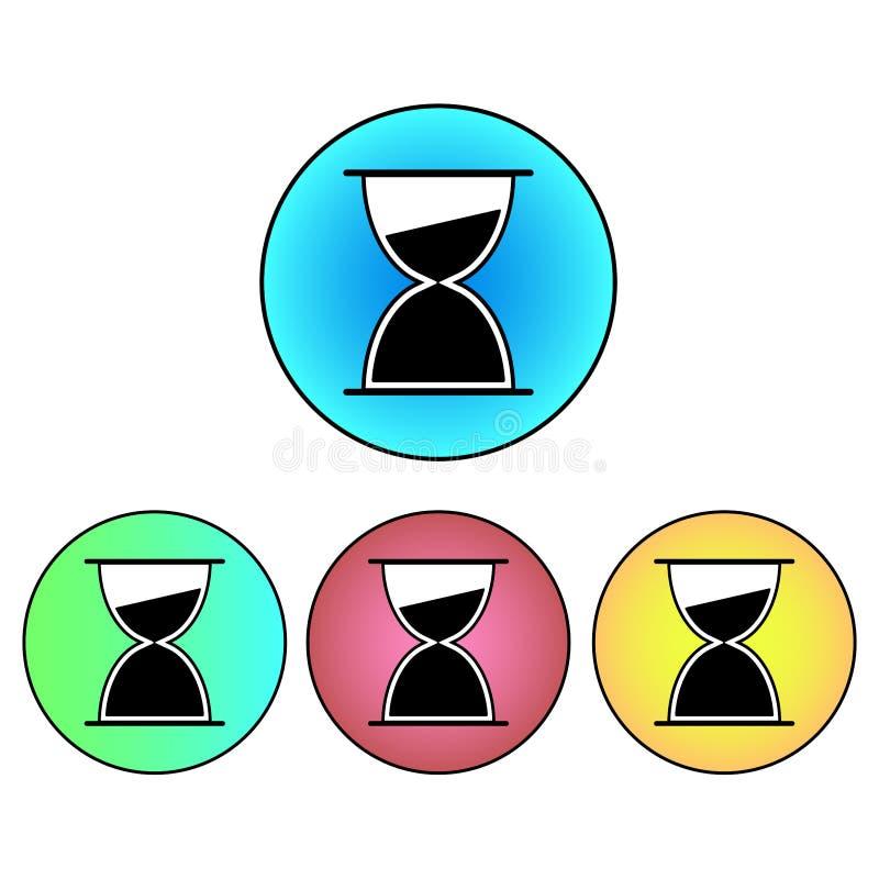 Значок таймера часов/яичка 4 изменения цвета иллюстрация вектора