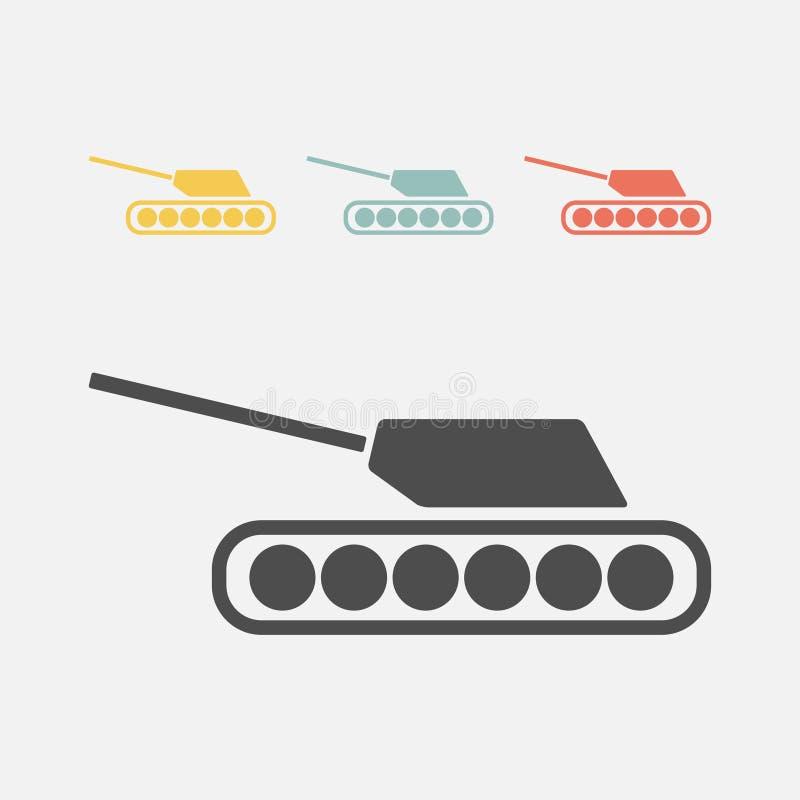 Значок танка иллюстрация вектора