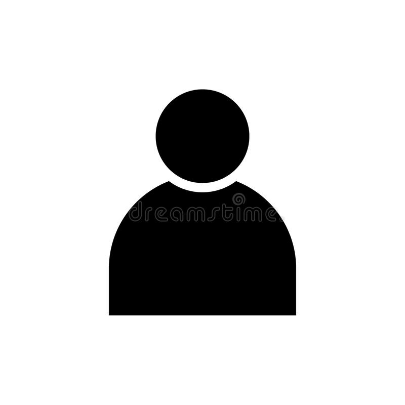 Значок твердого тела черноты воплощения профиля пользователя иллюстрация вектора