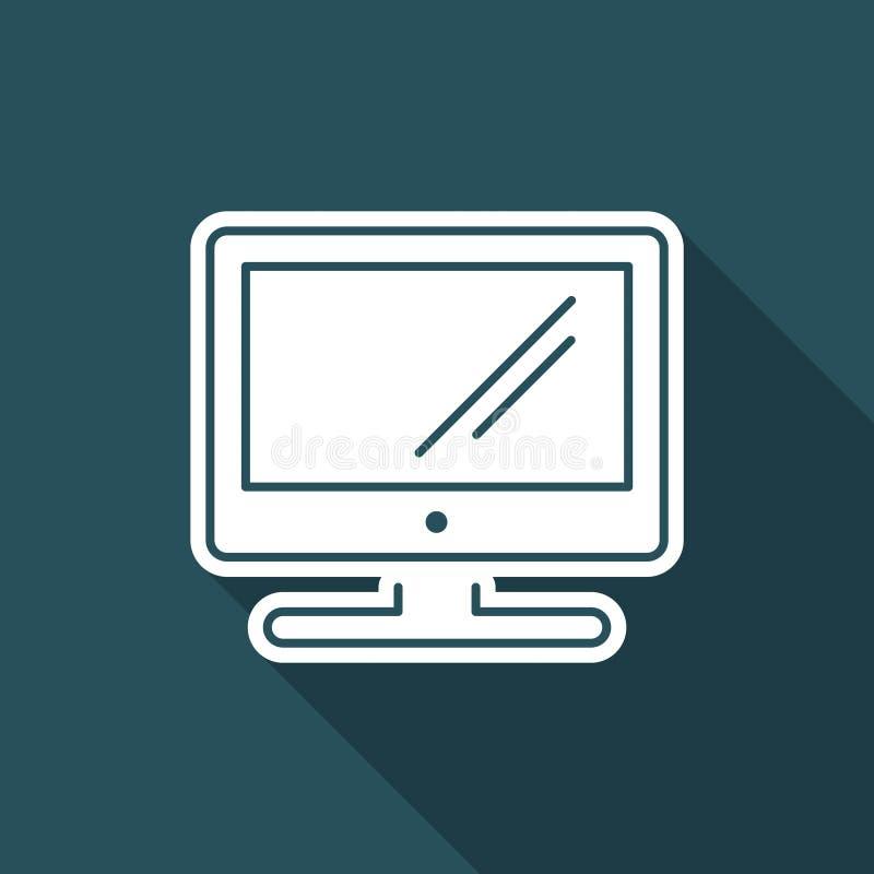 Значок ТВ - тонкая серия бесплатная иллюстрация