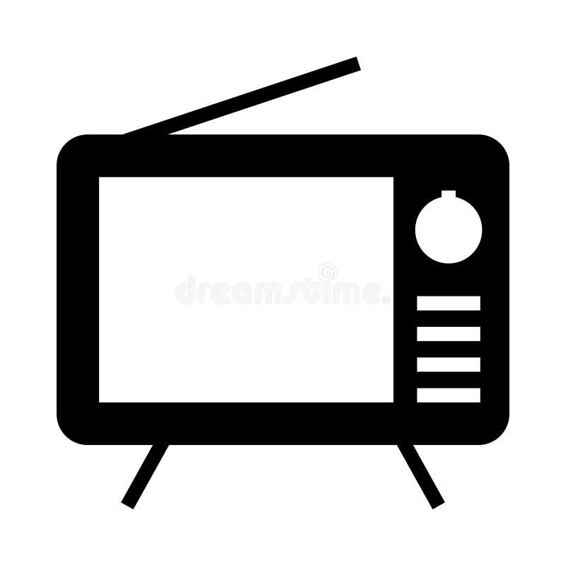 Значок телевидения иллюстрация вектора