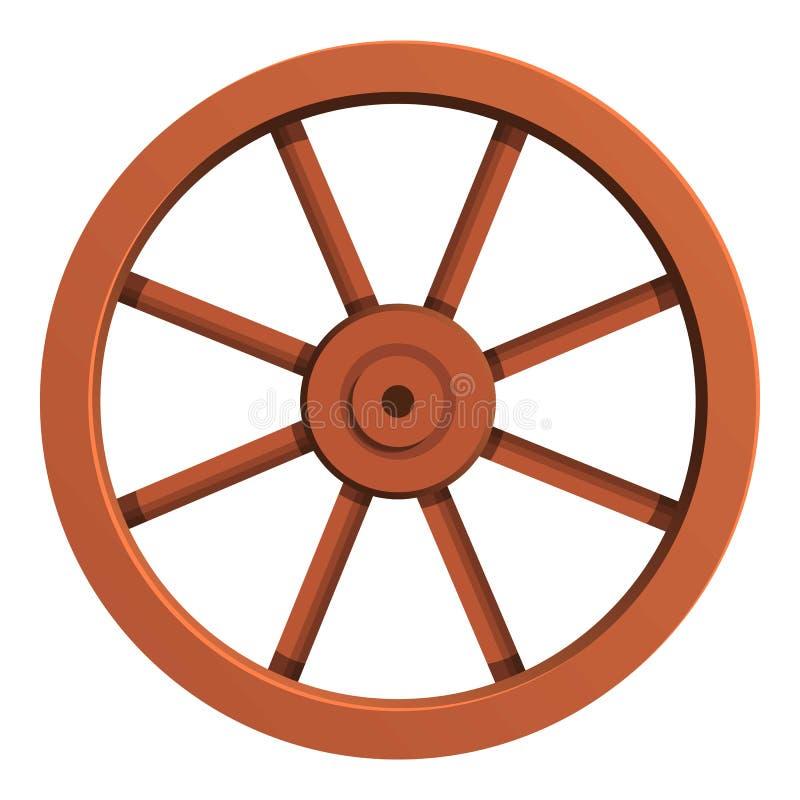 Значок тележки колеса, стиль мультфильма иллюстрация вектора