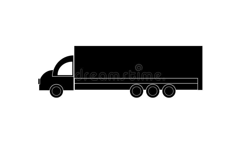 Значок тележки - Van Символ - путешествуя корабль - перевезите изолированный значок на грузовиках, Плоский дизайн иллюстрация вектора