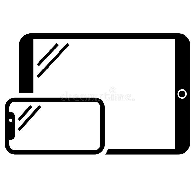 Значок телефона и таблетки иллюстрация вектора