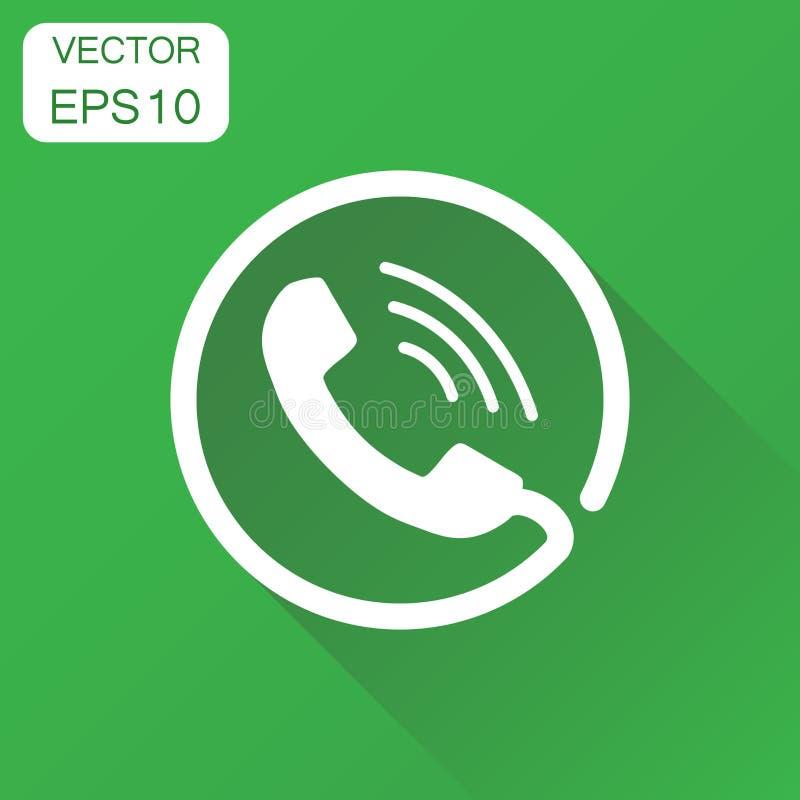 Значок телефона Контакт концепции дела, знак вспомогательного обслуживания иллюстрация штока