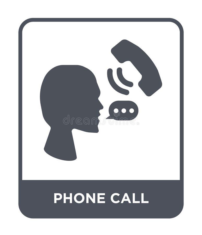 значок телефонного звонка в ультрамодном стиле дизайна Значок телефонного звонка изолированный на белой предпосылке значок вектор иллюстрация штока