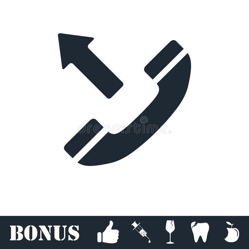 Значок телефонного звонка общительный плоско иллюстрация вектора