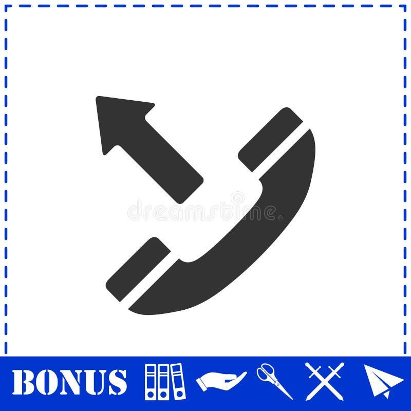 Значок телефонного звонка общительный плоско бесплатная иллюстрация
