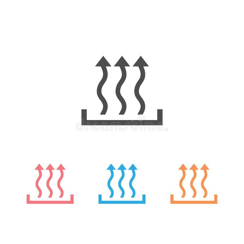 Значок 'Тепло' установил три концепции стрелки вверх иллюстрация штока
