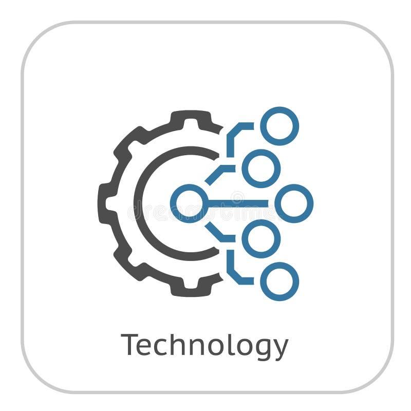 Значок технологии Шестерня и электронное Символ фабрики цифров бесплатная иллюстрация