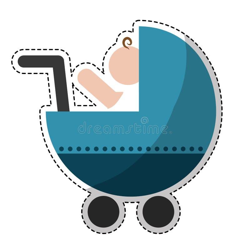Download Значок тележки младенца иллюстрация вектора. иллюстрации насчитывающей pram - 81801780