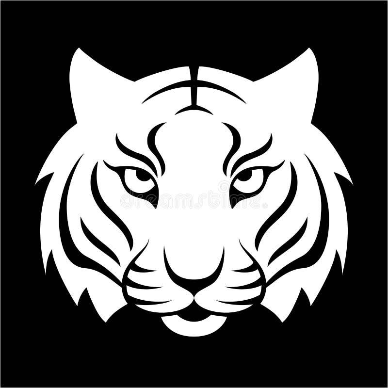 Значок тигра Иллюстрация для дизайна логотипа, печать вектора футболки иллюстрация штока