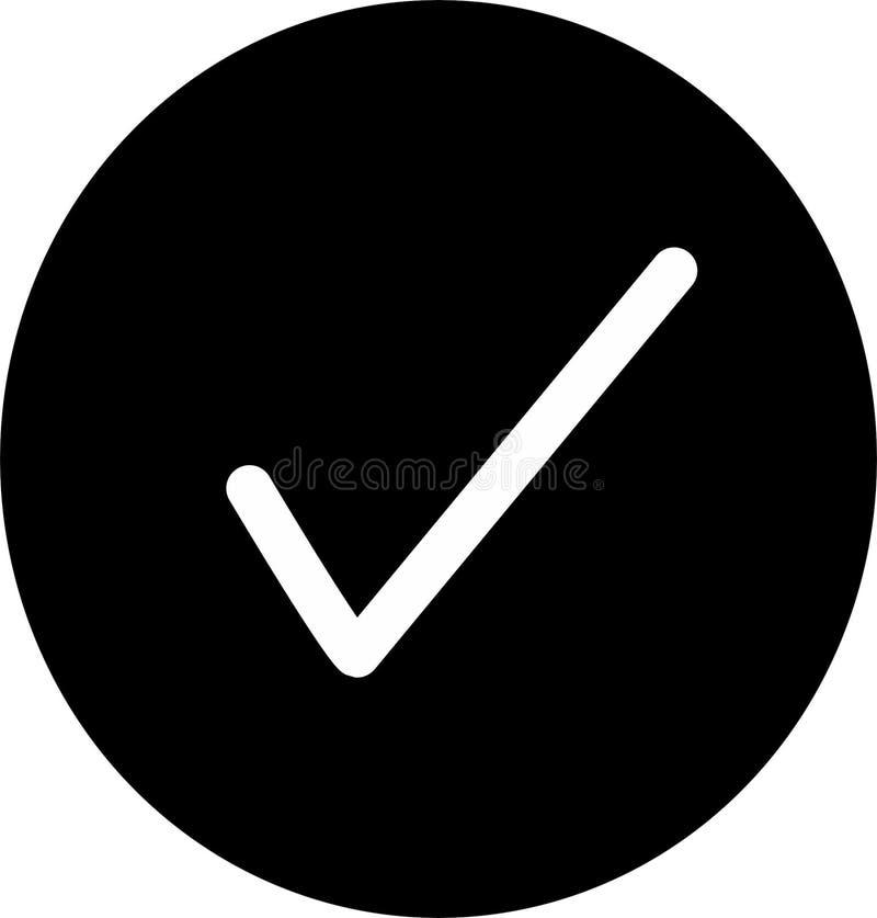 Значок тикания простой признавает вектор знака иллюстрация вектора