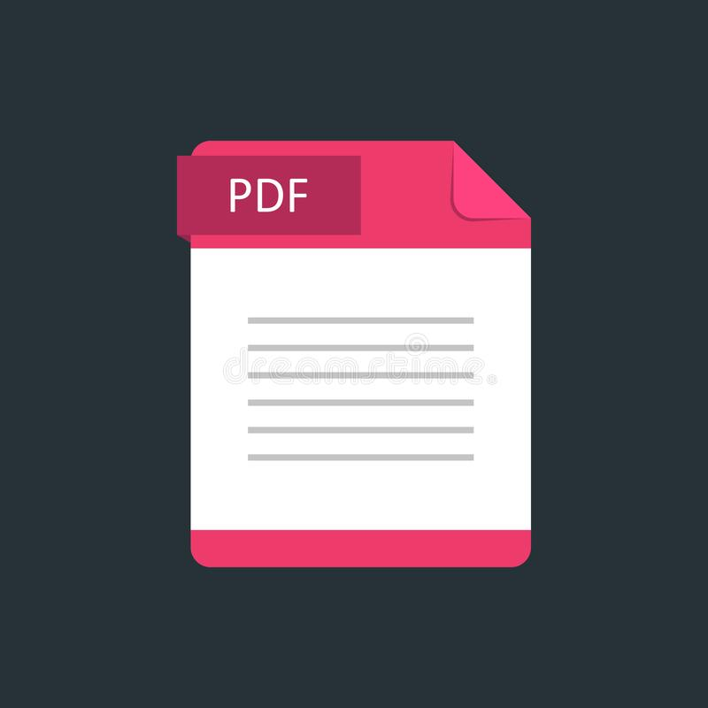 Значок типа файла PDF r иллюстрация штока