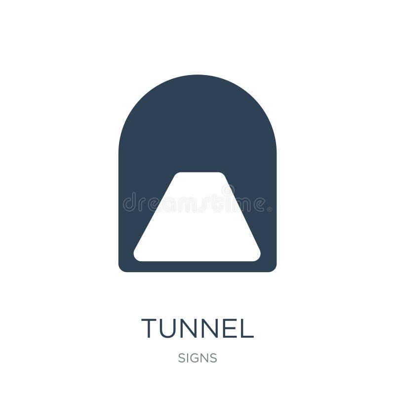значок тоннеля в ультрамодном стиле дизайна значок тоннеля изолированный на белой предпосылке символ значка вектора тоннеля прост иллюстрация штока