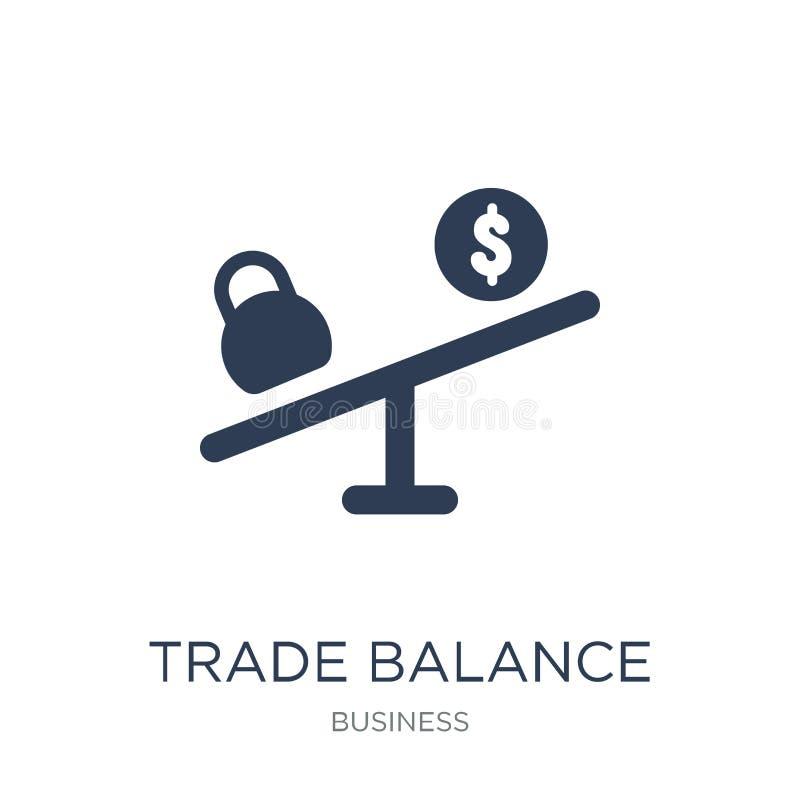 Значок торгового баланса Ультрамодный плоский значок торгового баланса вектора на whi бесплатная иллюстрация