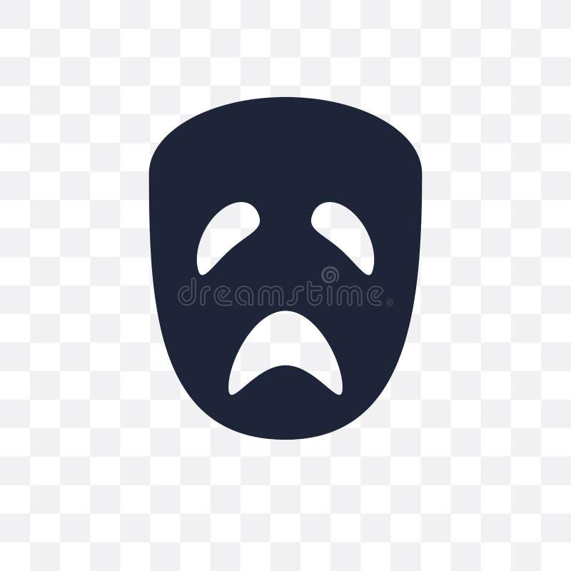 значок трагедии прозрачный дизайн символа трагедии от coll кино иллюстрация штока