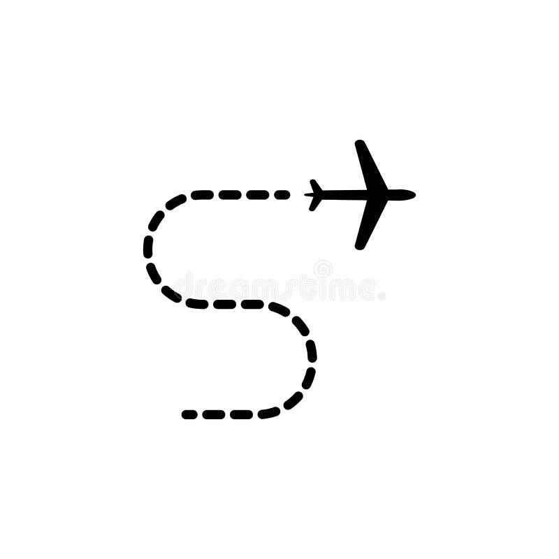 значок траектории полета Элемент значка перемещения для передвижных apps концепции и сети Детальный значок траектории полета можн иллюстрация вектора