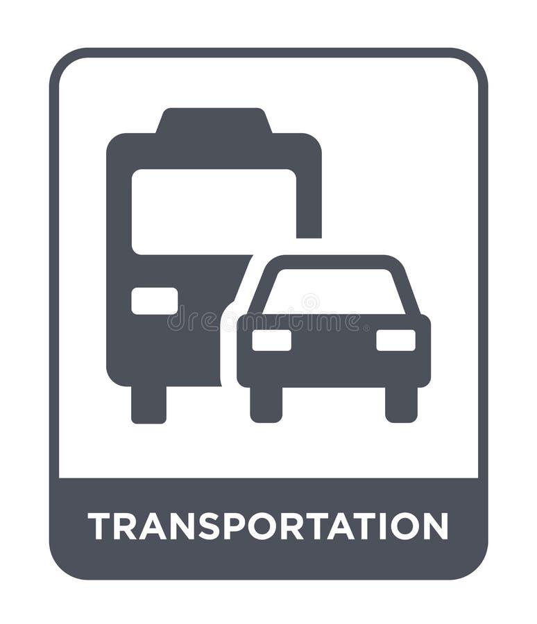 значок транспорта в ультрамодном стиле дизайна Значок транспорта изолированный на белой предпосылке значок вектора транспорта про иллюстрация штока