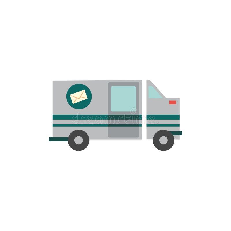 Значок транспортной машины вектора плоский иллюстрация вектора
