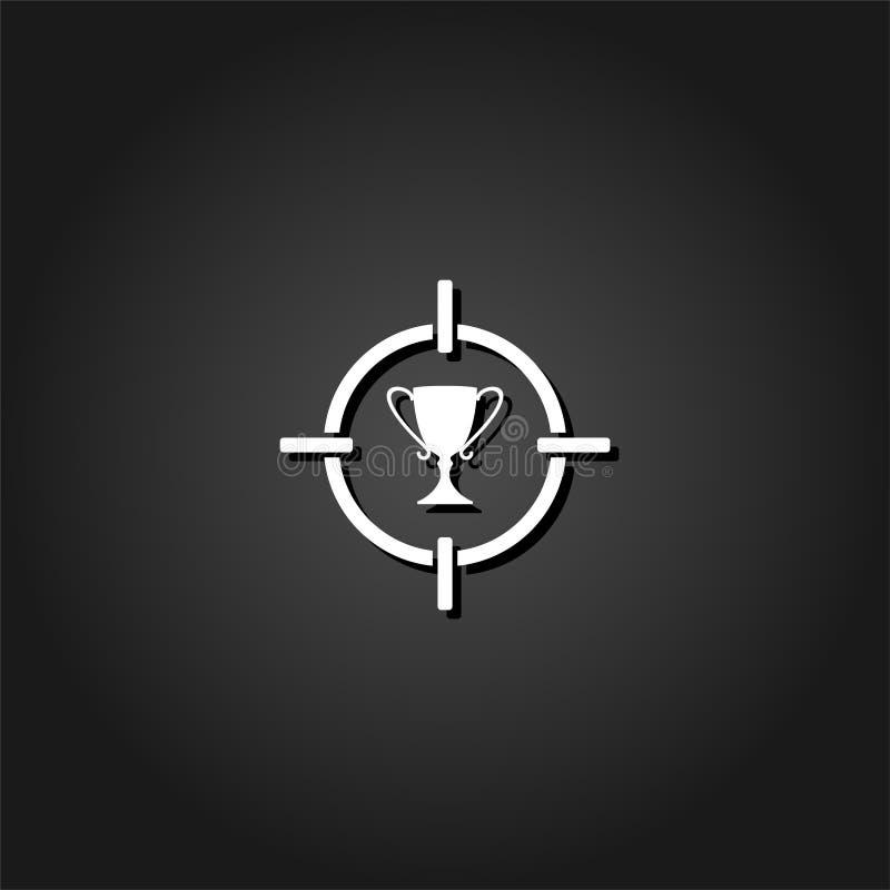 Значок трофея чашки цели плоско бесплатная иллюстрация