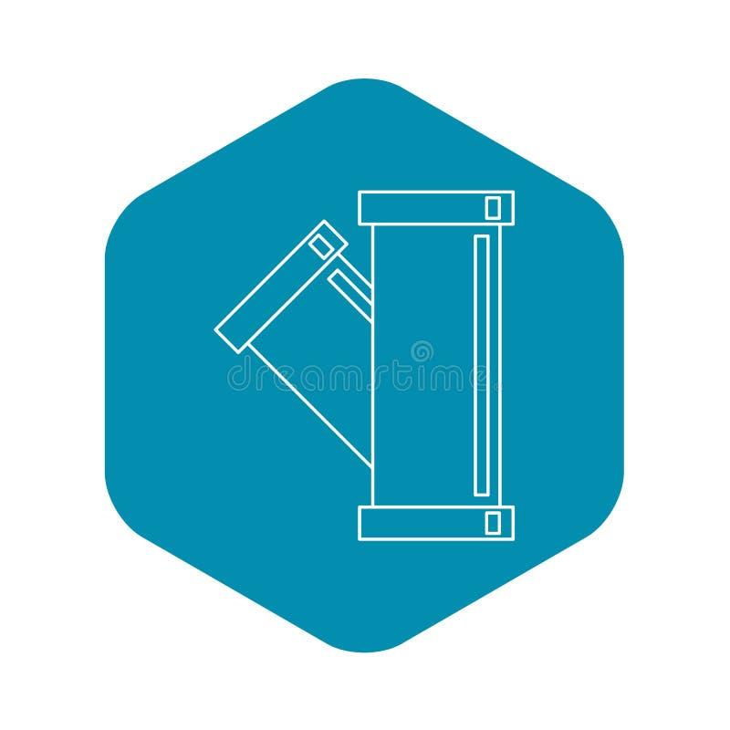 Значок трубопровода тройника приспосабливая, стиль плана бесплатная иллюстрация