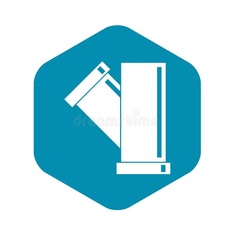 Значок трубы тройника приспосабливая, простой стиль бесплатная иллюстрация