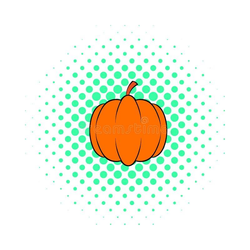 Значок тыквы, стиль шипучк-искусства иллюстрация вектора