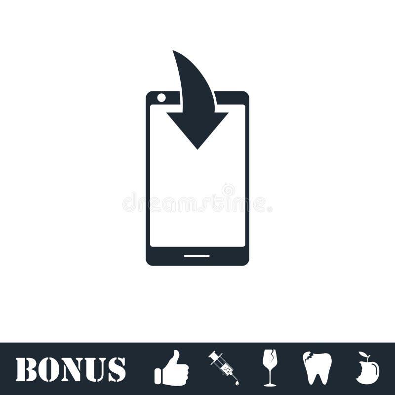 Значок уведомления загрузки телефона плоско бесплатная иллюстрация