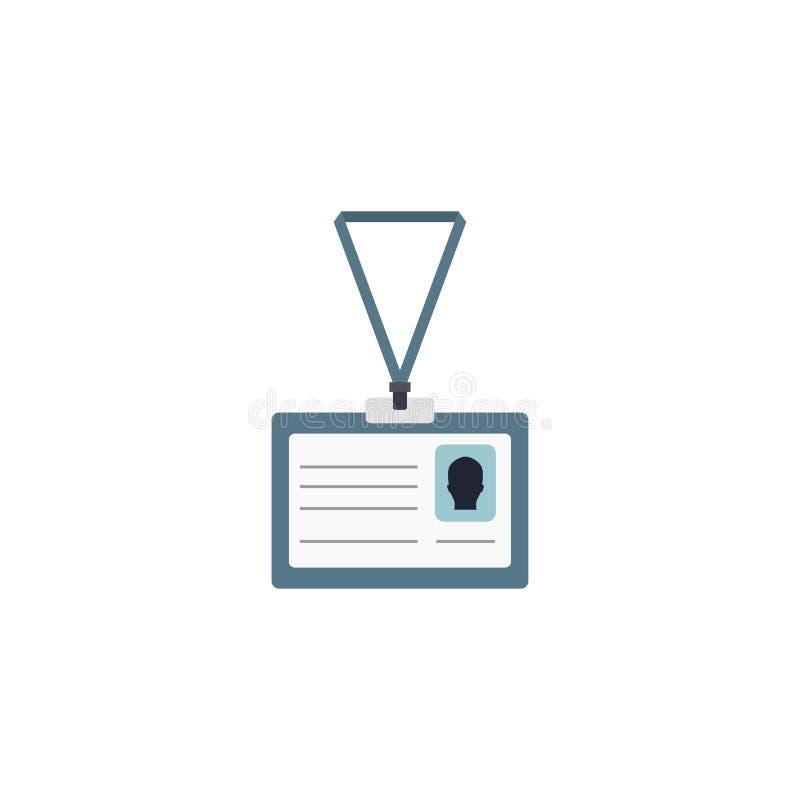 Значок удостоверения личности тождественность также вектор иллюстрации притяжки corel 10 eps иллюстрация штока