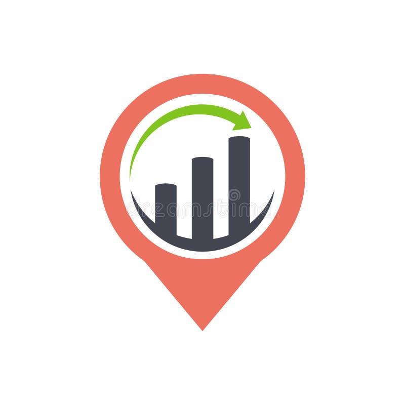 Значок указателя GPS вектора дизайна логотипа дела и финансов бесплатная иллюстрация