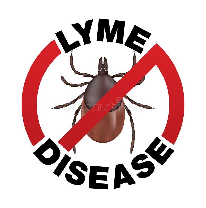 Значок укуса тикания заболеванием Lyme бесплатная иллюстрация