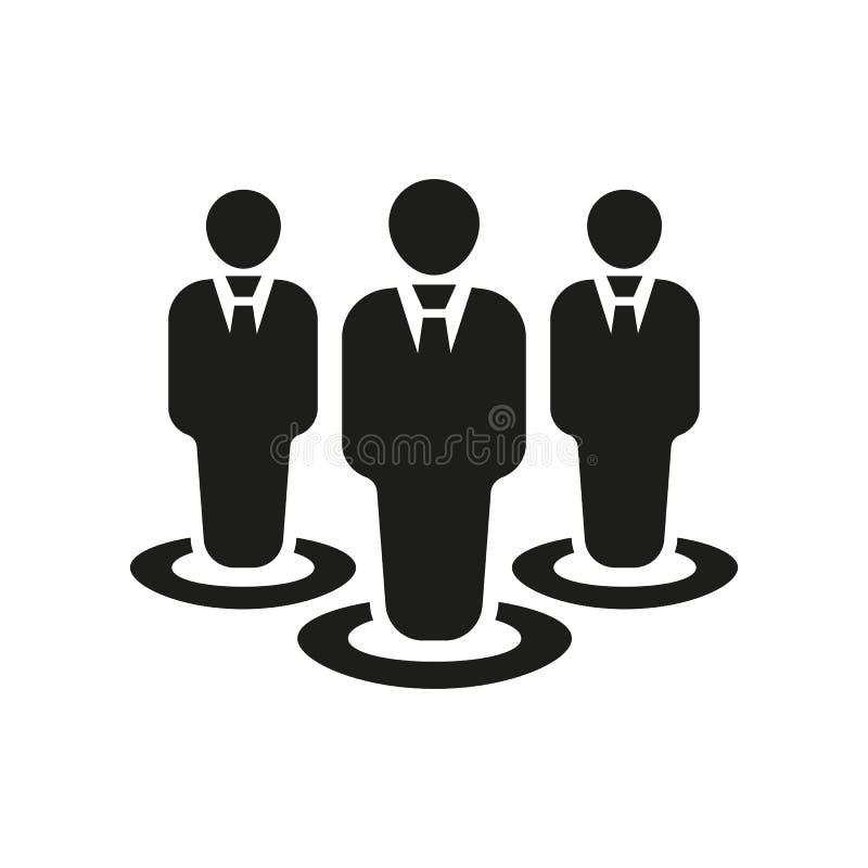Значок управления Команда и группа, сыгранность, люди, символ союзничества Ui Веб логос Знак Плоский дизайн _ иллюстрация штока