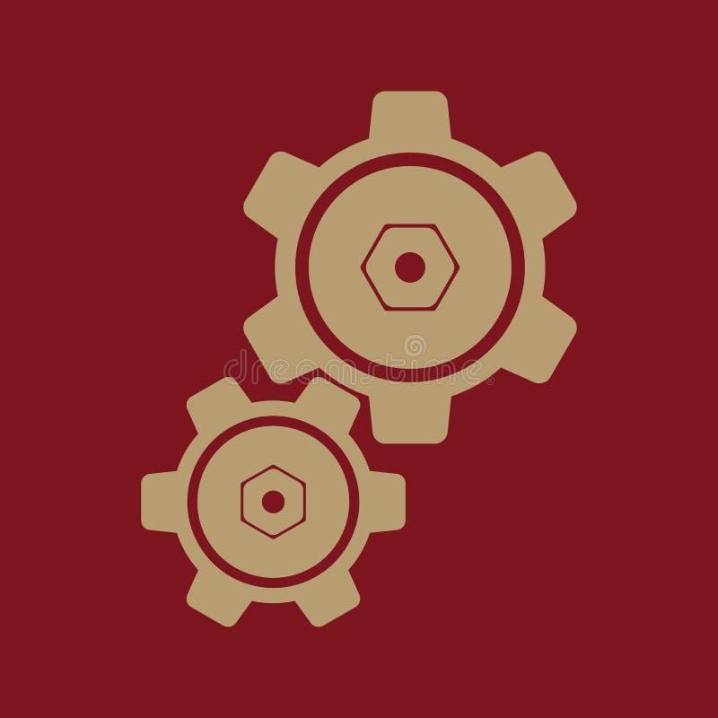 Значок установок зацепляет символ бесплатная иллюстрация
