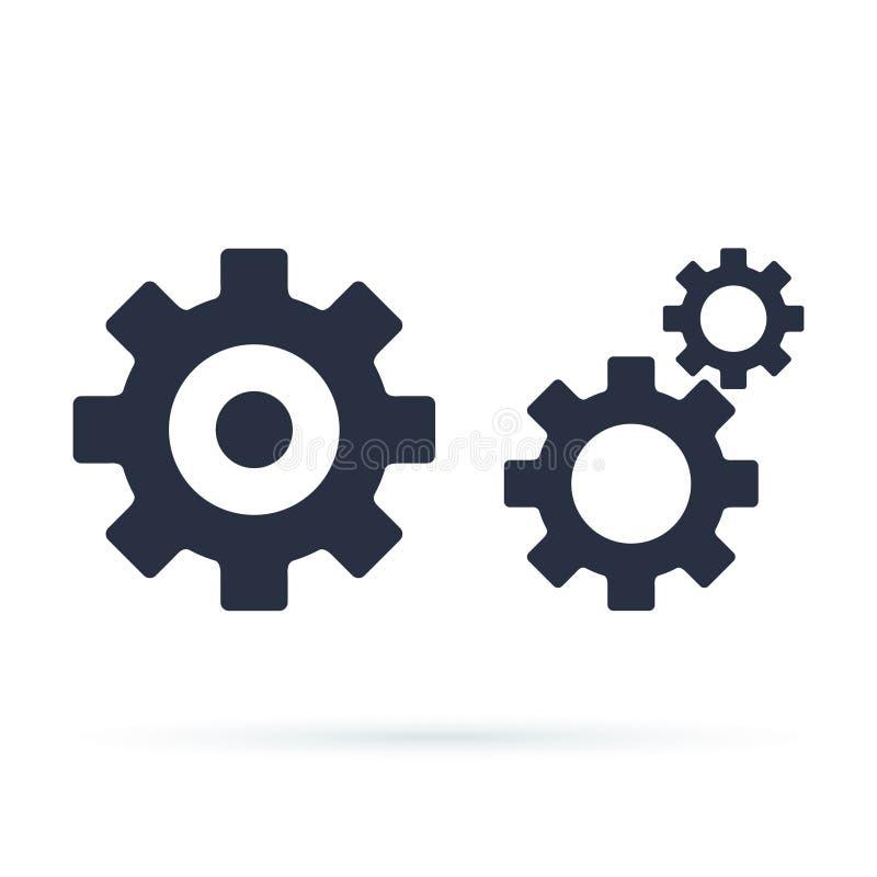 Значок установок с дополнительными шестернями значком, иллюстрацией вектора иллюстрация штока