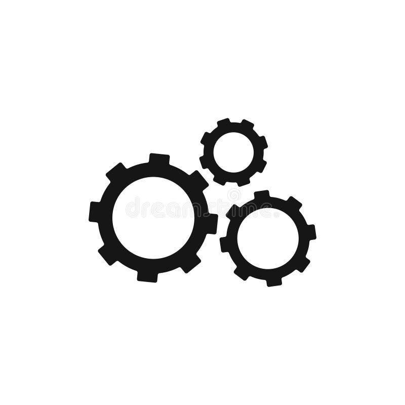 Значок установок с дополнительными шестернями значком, иллюстрацией вектора бесплатная иллюстрация