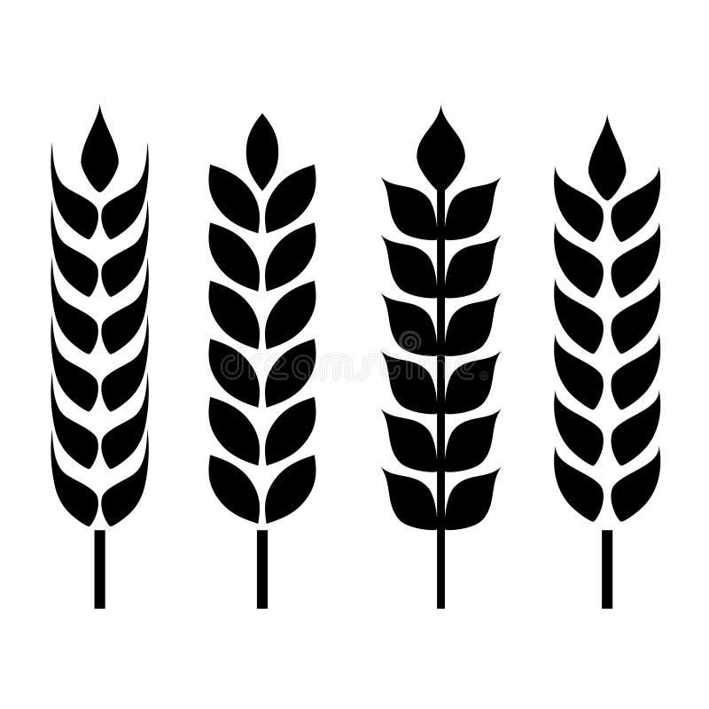 Значок уха пшеницы иллюстрация вектора