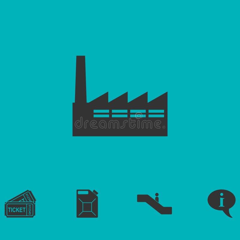 Значок фабрики плоский бесплатная иллюстрация