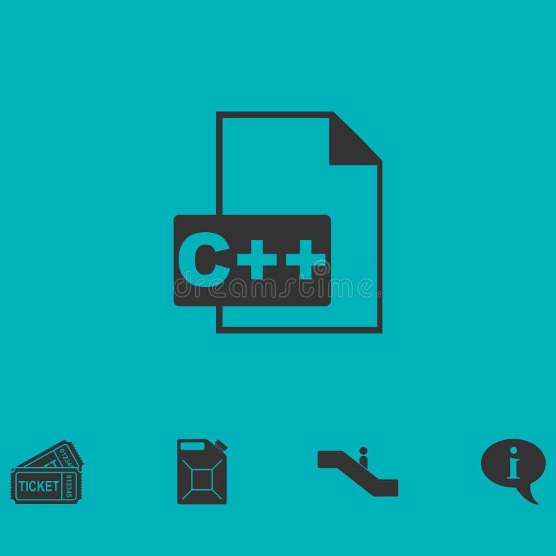 Значок файла c плоско иллюстрация штока