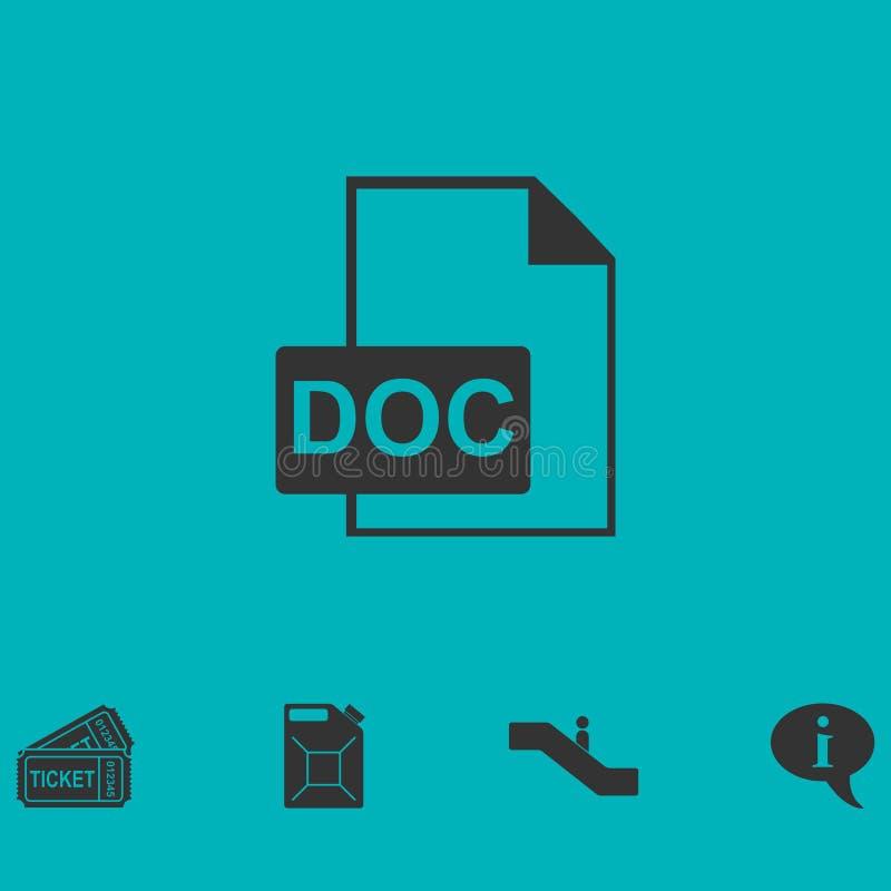 Значок файла DOC плоско иллюстрация вектора