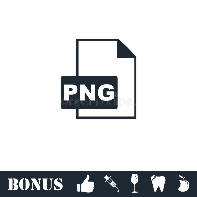 Значок файла PNG плоско бесплатная иллюстрация