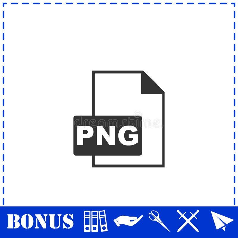 Значок файла PNG плоско иллюстрация штока