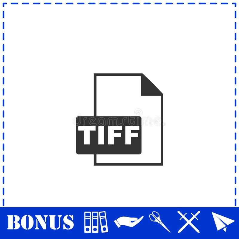 Значок файла TIFF плоско бесплатная иллюстрация