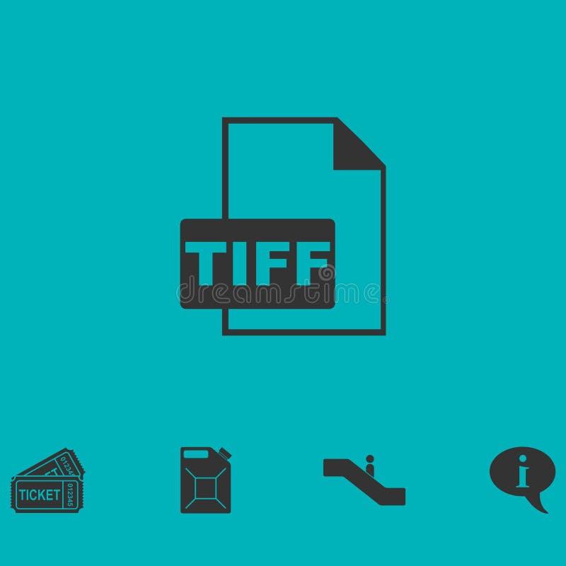 Значок файла TIFF плоско иллюстрация штока