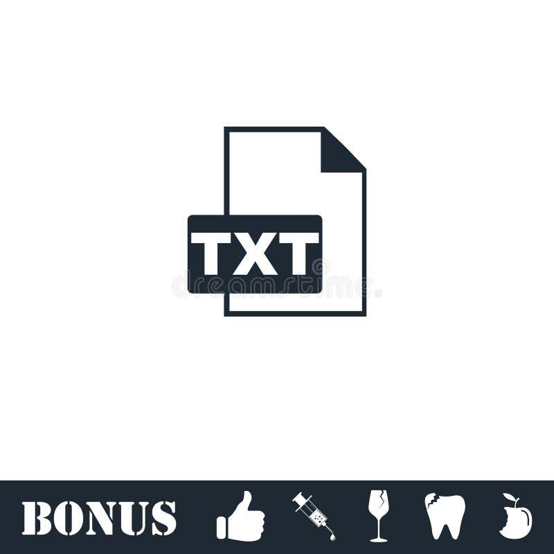 Значок файла TXT плоско иллюстрация вектора