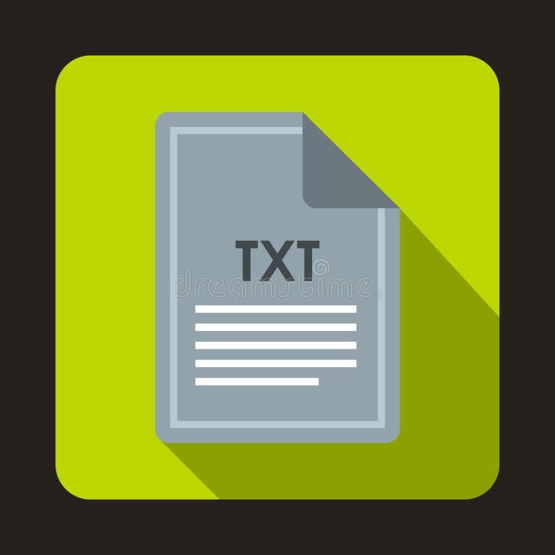 Значок файла TXT, плоский стиль иллюстрация вектора